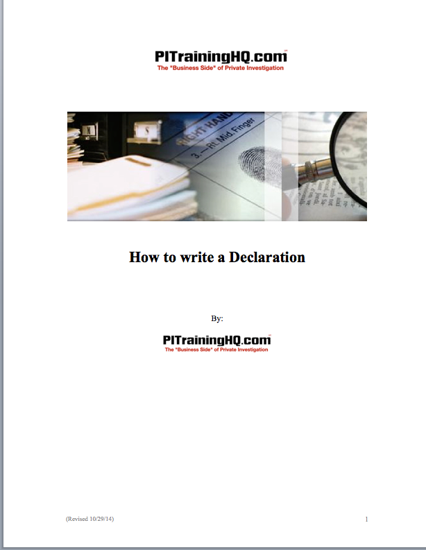how to write a declaration